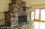 This fireplace has rocks all selected by the owner and from Lake Michigan