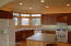 Large kitchen with island allows plenty of counter space
