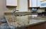 Solid Granite Counter tops with recessed sink.
