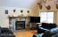 Living Room features natural fireplace with blowers