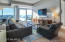 Living area with southern views over the City of Grand Rapids and Grand River.