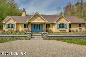 Country French Courtyard Home on 3-Acres.
