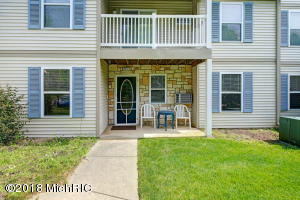 Beautifully maintained Forest Hills Schools condo. Open concept, ground floor unit with plenty of space. 2 bedrooms, 1.5 bath! Prime location around the corner to all amenities including 28th ST., Restaurants, health clubs, easy access to I-96, Calvin College, and short commute to downtown. Landscaping, heat, water, sewer, trash & snow removal all included in $235 monthly fee! Plenty of storage throughout including large pantry and additional Storage closet. Master bedroom offers walk in closet and ensuite half bath. Full size washer and dryer! Large attached 2 car garage with extra storage as well.