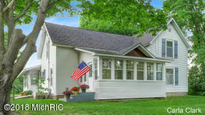 6/24/18 OPEN HOUSE is CANCELLED. This charming 1900 farmhouse is ready! Lovingly renovated over the last 6 years, this is attention to detail you must see! Owners have beautifully combined character with updates that you will love.  A new kitchen that is clean & functional featuring the original country kitchen wall of cupboards and nice eating area with direct access to the back deck. A master suite with a window seat and attached bath with a claw foot tub (with shower). Main bath has beautiful new tile step in shower. The electrical has been updated and the roof is only 8 months old. Pocket doors between the LR & formal DR and French doors between the DR & front entry/sitting area. The main floor also has a small room for a home office, den or nursery. Upstairs there is a sitting are