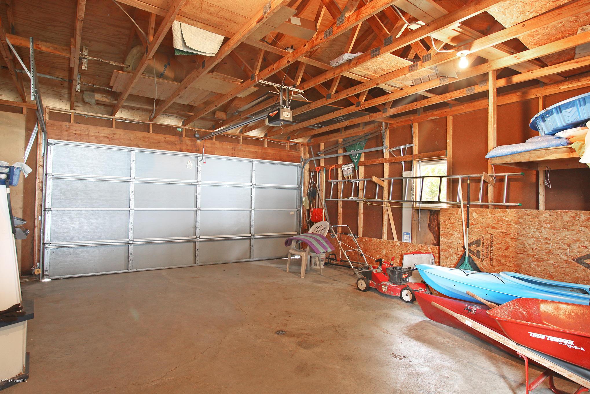 Interior of 2 stall garage