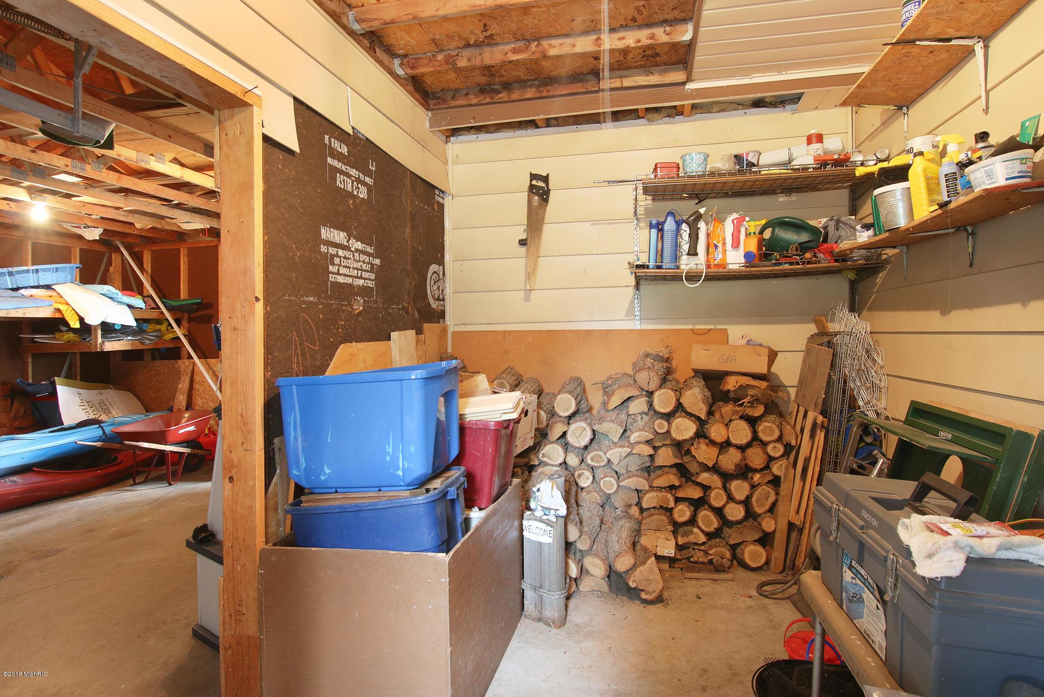 Added storage off garage