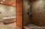 Tiled Walk-in Shower, beautiful Bath tub and oil-brushed bronze Fixtures