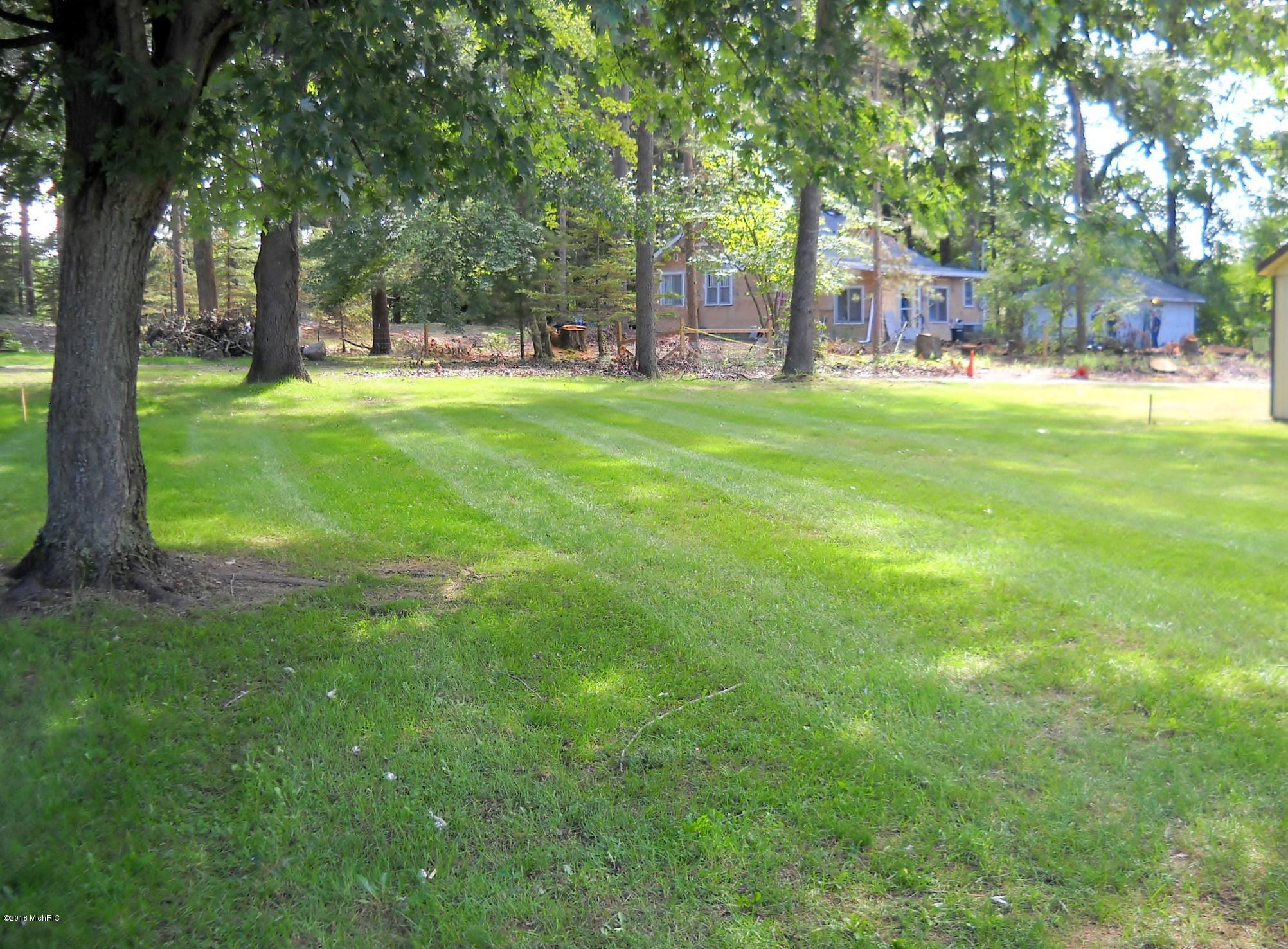 Spacious rear yard of home