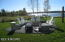 Portage Lake 100 ft private waterfront fire pit area
