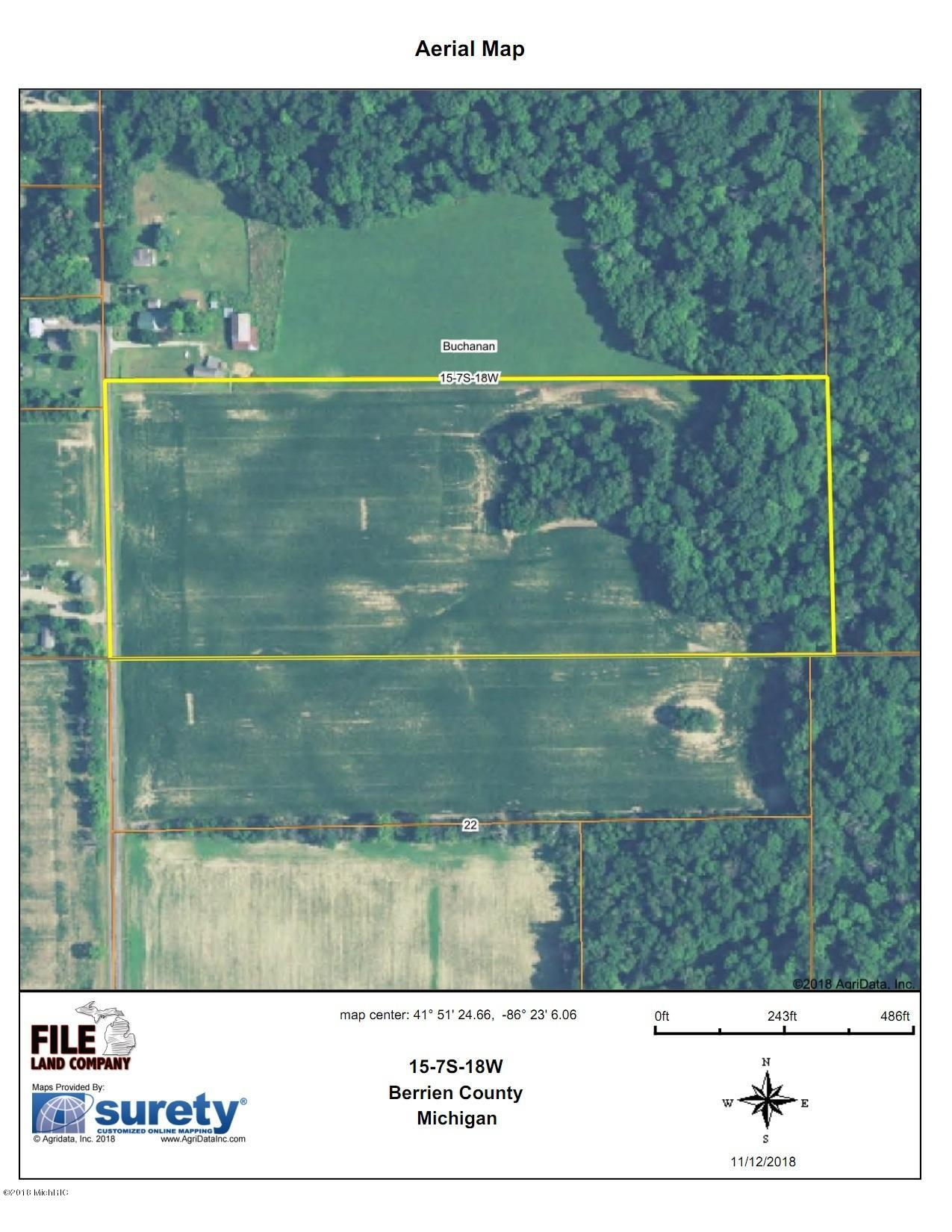 Buchanan Michigan Map.Broceus School Road Buchanan 49107 Mls 18009737 Jaqua Realtors