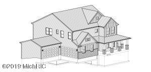 Stock drawing of home under construction. 4 bedroom, 3.5 bath, 4 car split load garage.