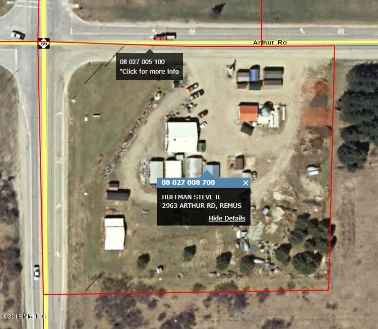Remus Michigan Map.2963 Arthur Road Remus 49340 Mls 19005285 Greenridge Realty Inc