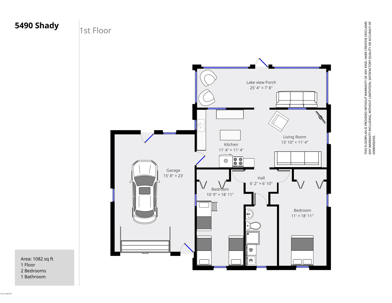 5490 Shady 1st Floor