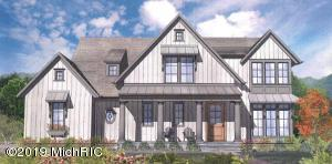 This to-be-built BDR custom home is ideal for family living or casual entertaining with exquisite interior and exterior living spaces.  Enjoy an open floor plan with superior craftsmanship akin to all BDR homes.  Interior finishes include custom built-ins, granite countertops, Pella windows, Jenn-Air appliances and the opportunity to customize other interior details.  The exterior features James Hardie siding that ensures a quality exterior for years to come!  Enjoy the vibrant and redeveloped Ada Village and Ada Township park less than a mile away!  Conveniently located within the Forest Hills School District, this property includes access to bike paths, restaurants, coffee shops, and the iconic Ada covered bridge.  Purchase of this home includes a warranty from BDR Custom Homes. An aviator's dream, this property includes both access and user rights to the Somerville Airstrip.This listing includes rough-in only for lower level bath.  Finishing the lower level to include the fifth bedroom, full bath, exercise room and family room with wet bar is not included in current listing price.All listing information deemed accurate and subject to buyer confirmation.