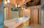 Master bath with vaulted ceilings