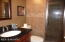 The Guest bath is especially smart, with glass door to the shower and beautiful tile.