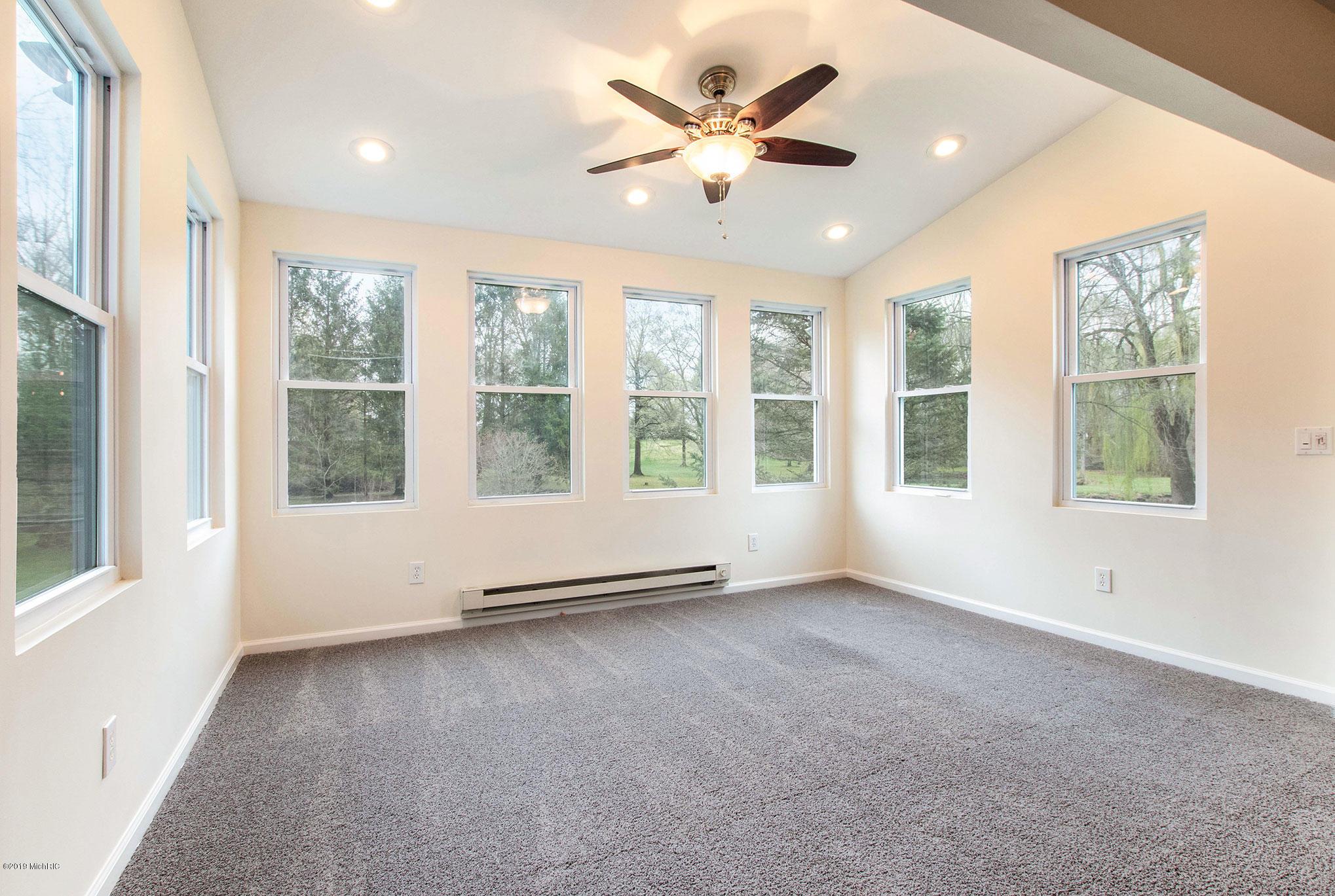 Living room over looking creek