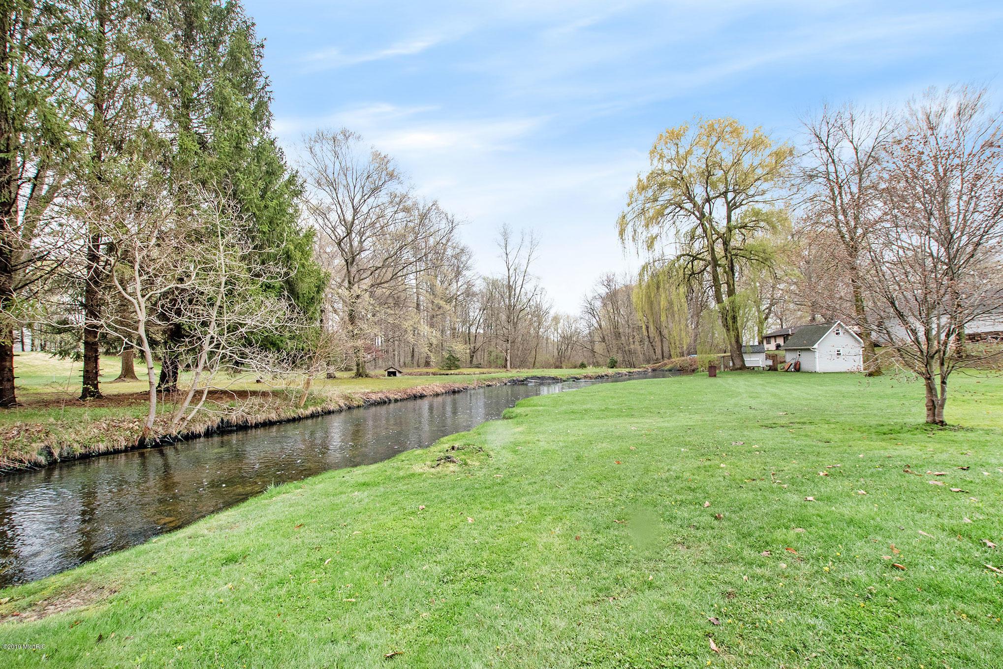 Flowerfield Creek in rear of property