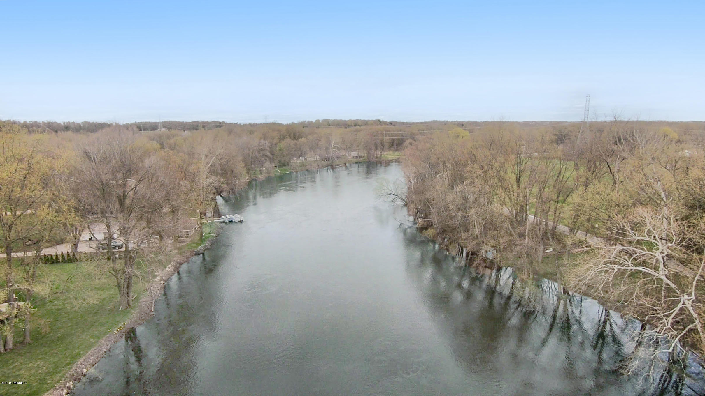Aerial of the river