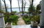 Lakefront patio with 100' of waterfront.