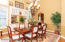 Elegant dining room with built in hutch