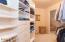 2 huge custom walk in master closets