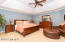 Master bedroom with try ceiling