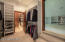 A seldom seen, multi-room master closet offers generous space for clothes, shoes, hats, scarves, intimate apparel and whatever else you've always wanted space for.