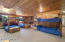 The Bunk Room. Sleeps 15. For residential purposes, this room could be transformed into a master en suite, an exercise room...