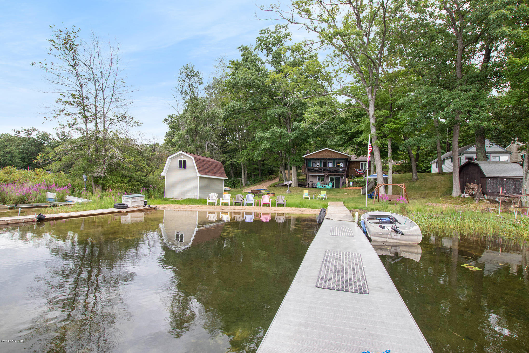 Over 200' frontage - two docks