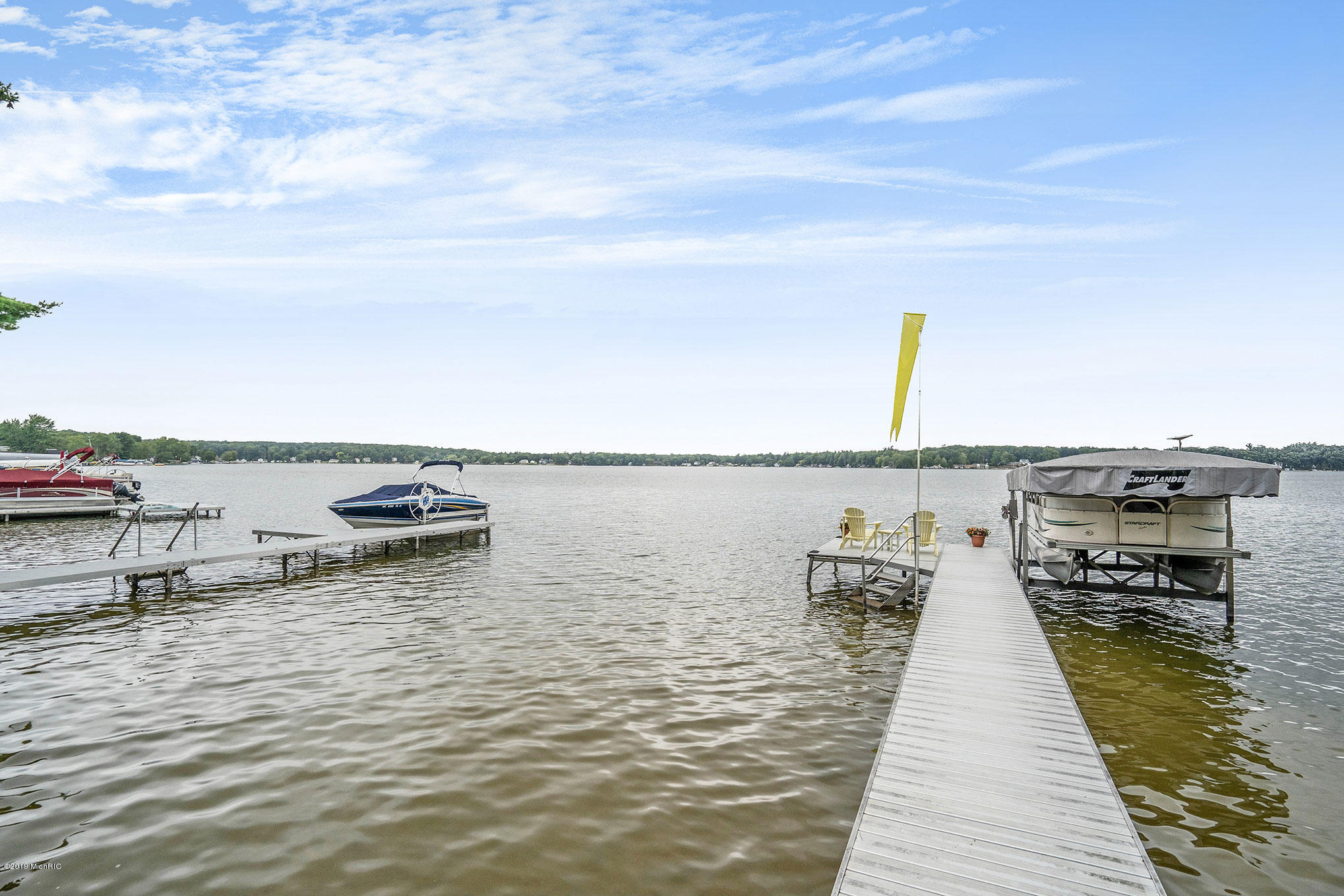 Dock with lakeside deck