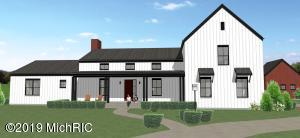 This to be built home is a custom Right home company design built by Eaglecrest Homes. A modern farmhouse vernacular situated on 2.6 acres offering a large open concept. Living room with a fireplace and sliders to a deck. The perfect kitchen with quartz counter tops, large center island and a generous pantry. The Master bedroom has all the '' I wants'' including sliders to your own covered private porch. A Main floor office, and the mudroom you always wanted. Finishes are everything you would expect from this caliber of an executive home. Hardwoods, tile in wet areas and custom cabinetry. 1300 sq feet bonus room above the garage left unfinished but would be great for a media room, in-law suite, studio or office. This is a high-performance home boosting of a near 50% savings on utilities pe