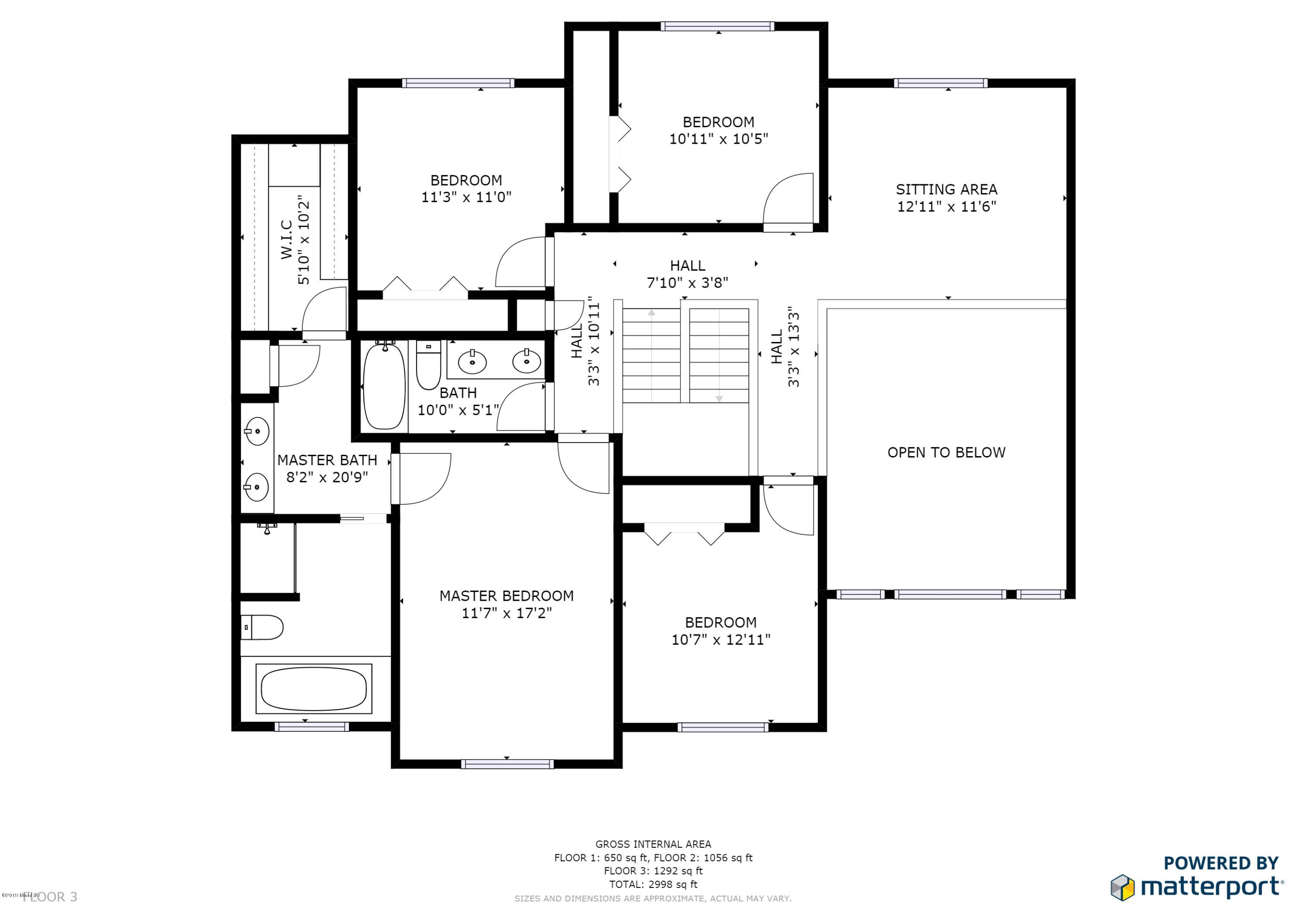 National Home Sq Foot Floor Plan on