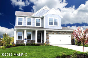 New construction colonial home in Bretonfield Preserve community of Kentwood. Home upgrades include: Quartz counters in kitchen, Whirlpool stainless steel appliance package, 10x10 patio, garage door opener with remotes, and more!
