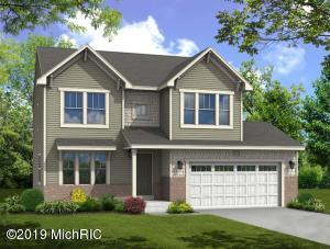 New construction colonial home in Kentwood.  Home upgrades include: Finished basement rec room, daylight basement package, basement bathroom rough in, white ceilings upgrade, crown molding on second floor, and more.