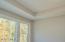 coffer ceiling detail in master bedroom