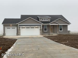 Eagle Creek Homes is proud to present you with the Silverhawk floor plan.  This home features a large center island in the kitchen.  Fireplace with built ins in the Great room.  Over-sized Master bedroom and fantastic master bathroom.  The home features two other bedrooms on the main floor and an office.  The setting for this could not be better as home is situated on private road in a country setting yet close to Caledonia.  New owner would have the ability to add an out building if you choose.  Don't miss your opportunity at this fantastic home!!