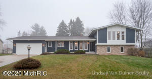 Stunning completely remodeled mid century modern with a 4 stall attached garage located on one of the largest lots in Princeton estates!  This 4 bedroom 2.5 will give you house envy! You will love everything about this home from the open floor plan with large windows in both the front and back of the house, brand new plank flooring, beautiful mantel with gas fireplace and tons of storage space.  The kitchen is everything you want with large bar seating area, high end stainless steel appliances, coffee bar, brand new white cabinetry, granite counter tops and white subway tile backsplash.  The chic bathroom features navy cabinetry, with solid surface double sinks, tile shower surround and updated fixtures.  The roof is 5 years old and furnace approx. 8 years old.  This is one of a kind