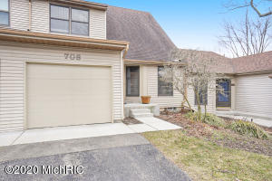 Clean , Charming  Well Kept Home in the Ever Popular North End next door to Frederick Meijer Gardens. Very Functional , Comfortable floor plan with lots of Natural Light.Slider to Private Deck Overlooking Peaceful Grassy area. Nicely Done Lower Level with Daylight Windows. Pet Friendly Community