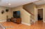 lower level with new laminate flooring