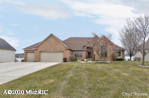 A virtual live walk thru tour is available upon request by contacting Listing Agent Steve Frody and we can set this up with the Seller. All Sports Cedar Lake West lake home is prepped and ready for your summer 2020. Built by Koetje builders as you will see the quality and pride! You could not build this home for this value. New homes around the lake range 700k -1.3 mil. Recent upgrades include a new roof(2019 apx 25k), all new heating and AC system with 3 zone heating replaced few years ago. Over 2100 sq ft on the main floor with open kitchen design, huge master suite, MFU, guest bedroom/or den/in law suite, formal dining, large living room with 12 ft ceilings with fireplace.  Lower level is finished with 2 more bedrooms, walk in cedar closet, bath, huge windows in family room, additional optional future workout /theater room and walk right into your huge 1+ stall garage for all the lake toys. Professionally landscaped, powered awning, maintenance free deck, custom sea wall and large patio, create a wonderful back yard for lake memories and dreams. Enjoy every sunset and priced to move.