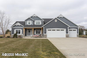 Quality built home by Boverhof Builders, has much to offer in the Caledonia Community School district! This home includes an open kitchen, dining area, and sizable living room with 18' ceilings. Custom cabinets in the kitchen, mudroom, laundry and office, all soft close doors and drawers. Walk through the back hall mudroom with considerable storage, to the beautiful laundry room, and office with its own exterior entry. Both the laundry and office have tile flooring and quartz countertops. The main floor master hosts a large master bathroom and walk in closet. The second story has 3 more bedrooms and a full bathroom, with an additional large storage closet. Unfinished basement is set up to have 2 bedrooms, a full bathroom, and large entertaining space. Schedule your showing today! Seller is licensed agent in the state of Michigan.