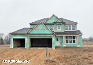 STUNNING Sanibel home by Eastbrook is now under construction in Lowing Woods.  Estimated move in ready July 2020. This show-stopper of a home has classically popular design trends and ample living space to enjoy- over 3000 sq ft! Enjoy the popular Michigan/Sun room off the dining area, cozy up to the fireplace, work from home in your separate office area, enjoy the his-and hers closets (6x6 and 7x7) in the master suite and the enormous 9'x4' tiled walk-in shower with dual shower heads. Laundry is conveniently located upstairs near all bedrooms, each with it's own walk-in closet. The lower level boasts a finished rec area but is ready for a future 5th bedroom and 3rd full bath. Lowing Woods is popular for it's community outdoor pool and clubhouse.  Come enjoy a brand new Jenison home today!