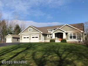 This is a rare chance for you to own your own piece of paradise on a private lake in Allendale Township.  The home boasts 4 bedrooms and 3 full bathrooms.  Main floor master bedroom, with master on-suite and main floor laundry is also a bonus.  The kitchen and dining area are gorgeous and look out over the private lake.  A wonderful 4 seasons room allows for a peaceful sitting area or you can enjoy time on the large deck on the back of the home.  The basement features a walk out and fire pit is just off the back of the home.  A separate single stall garage allows for more storage.   This is a must-see home!  No in-person showings until the Stay at Home Order is lifted by the Governor. If a buyer submits an offer and it gets accepted, the seller will allow inspector and the buyer go through