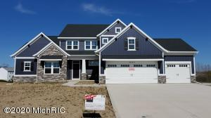 WOW!  Brand new construction in the highly sought after Railside community in Byron Center.  This custom ''Northport''  plan has many luxurious custom features throughout.  Home is almost 3,000 sq. ft above grade with another 1000 sq. ft finished in the walkout basement all situated on  a spectacular half-acre lot. Some custom features include a main floor workout room / den / office and an additional flex room, second floor Jack n Jill bath upstairs serving both 2nd floor bedrooms plus a loft. Soaring 2 story great room with fireplace and custom built ins. Kitchen features large island with room for 5, deluxe pantry, lots of solid surface counter space.  Main floor master suite features trey ceiling, reconfigured bath with dual vanities, free standing tub, ceramic shower and Walk in clos with custom cabinetry.  Now available for in-person showings by appointment!