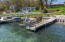 Shared boat dock.