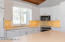 Kitchen with Corian countertops,