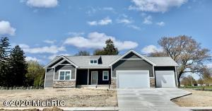 Beautiful new craftsman style home with lake views.  This main floor boasts 3 B/R 2 Full bath open concept with dining, living room & kitchen overlooking fireplace.  Kitchen with stainless appliances, large walk in panty with counter, big bar area, deck & laundry off kitchen. A location that's hard to beat just 5 min to shopping and only 25 min to Downtown GR, and lakeshore beaches, Grand Haven, Holland. and Muskegon. Your Assoc beach area gives you swimming,  kayaking, paddle boarding and fishing just steps from your door. 3 Stall Garage.Parade Home Possession 7/11. Allendale Schools.For OccupiedVacant Homes: At Seller's request and for the safety of all parties involved please sanitize hands when entering, remove shoes/wear booties, wear masks, and leave lights on during and doors open.