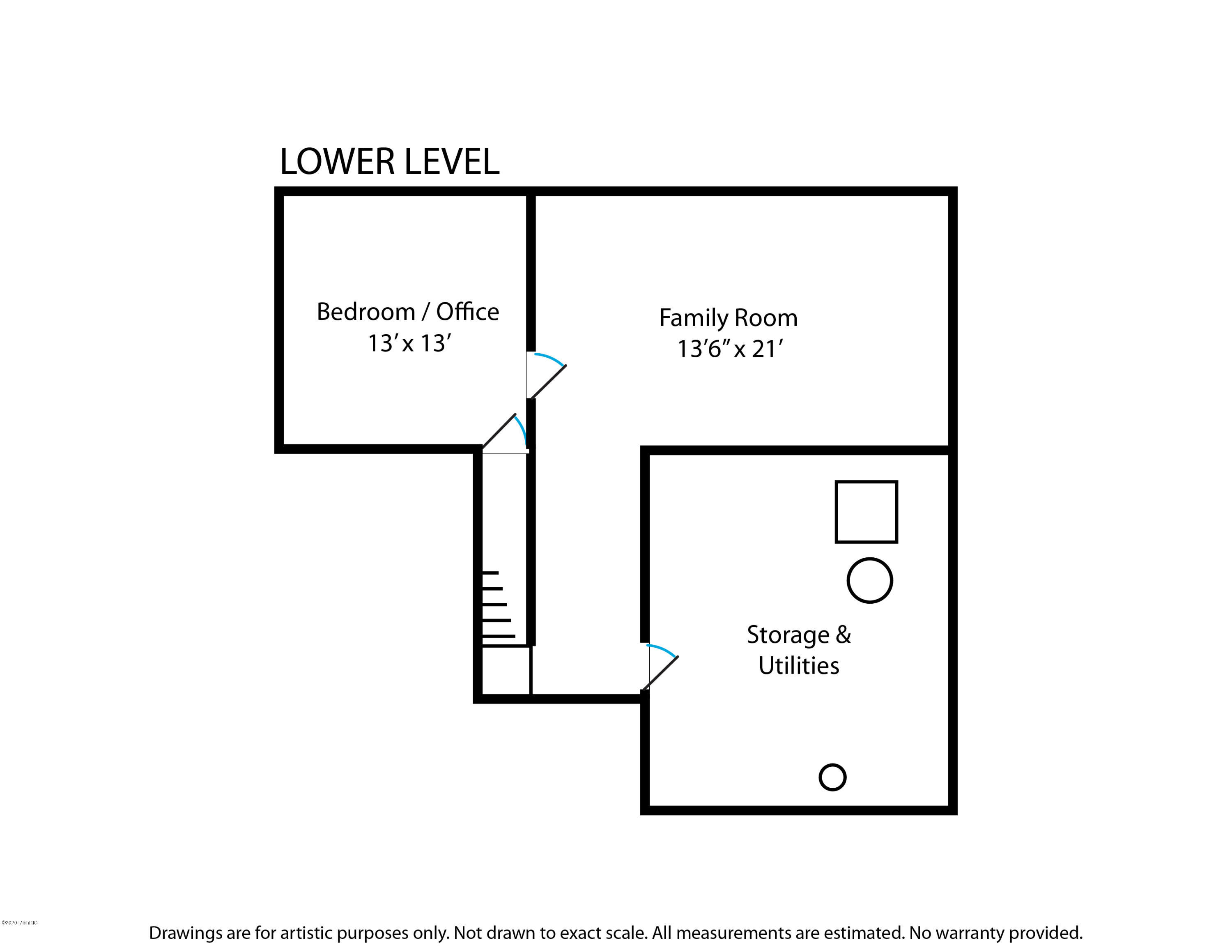 Floorplans Lower Level 7050 Black Forest