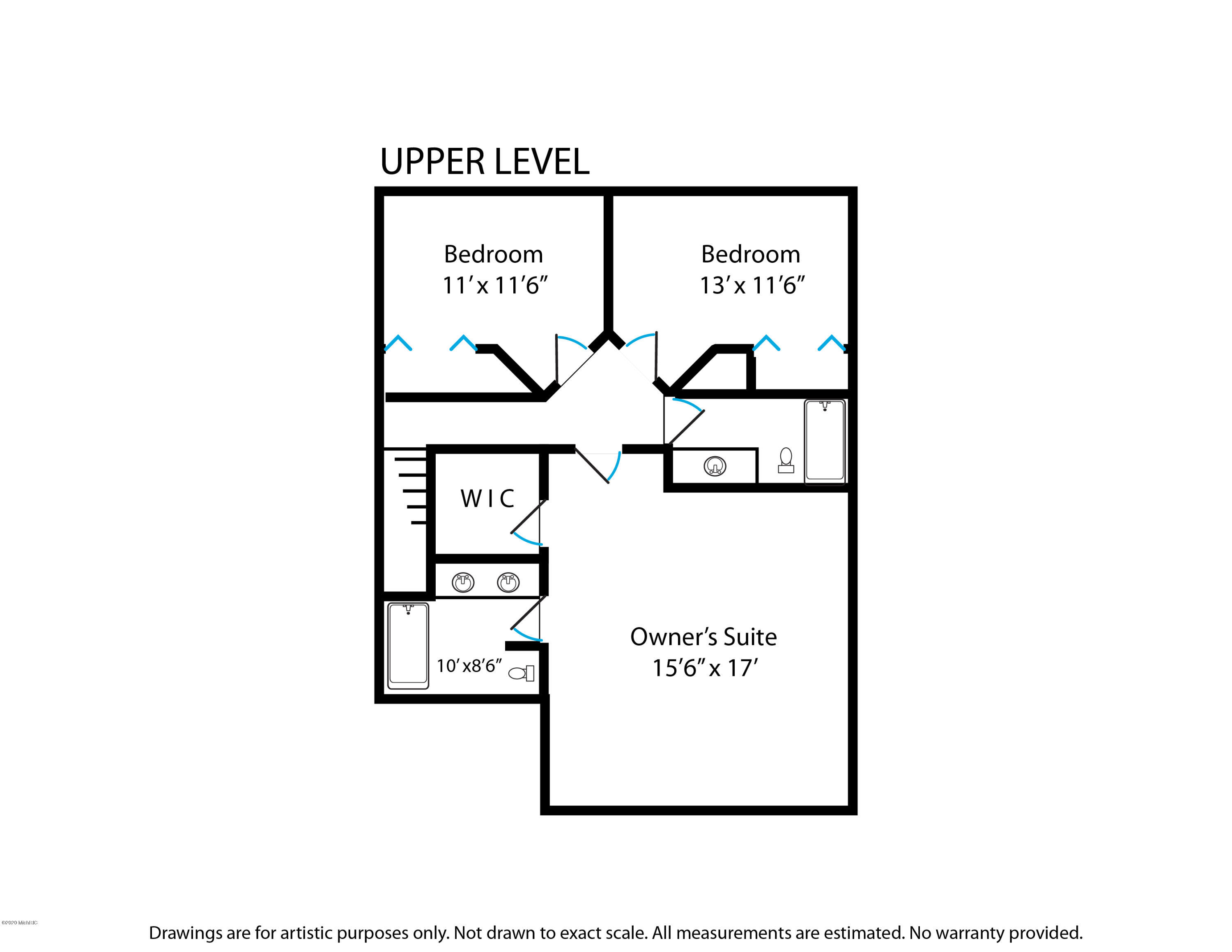 Floorplans Upper Level 7050 Black Forest